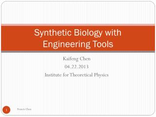 Synthetic Biology with Engineering Tools
