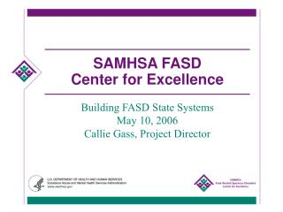 SAMHSA FASD  Center for Excellence