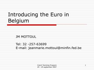 Introducing the Euro in Belgium