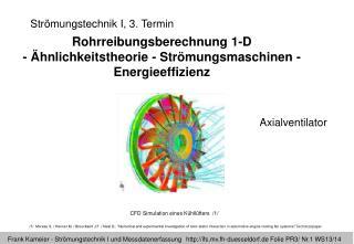 Strömungstechnik I, 3. Termin