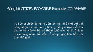 Đồng hồ CITIZEN ECO-DRIVE Promaster CC1054-56E