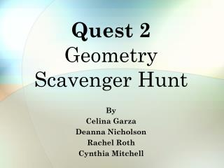 Quest 2 Geometry Scavenger Hunt