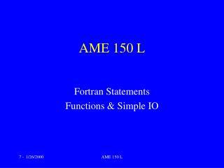 AME 150 L