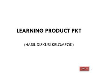 LEARNING PRODUCT PKT