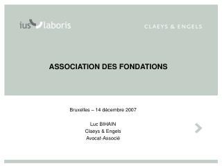 ASSOCIATION DES FONDATIONS