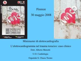 Minimaster di elettrocardiografia L'elettrocardiogramma nel trauma toracico: caso clinico
