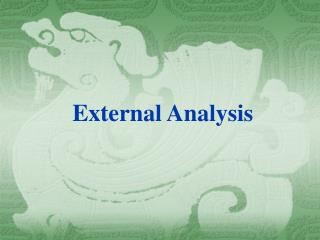 External Analysis
