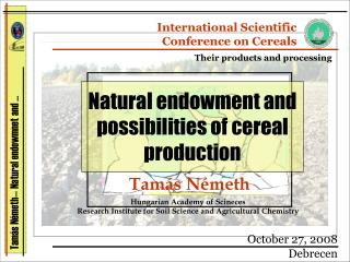 Tam�s N�meth� Natural endowmnet and �