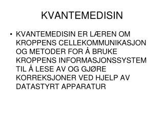 KVANTEMEDISIN