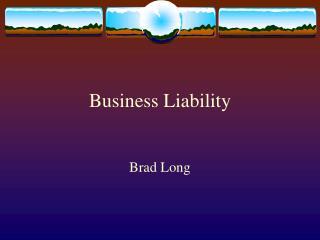 Business Liability
