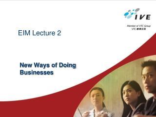 EIM Lecture 2