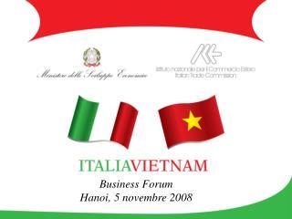 Business Forum  Hanoi, 5 novembre 2008