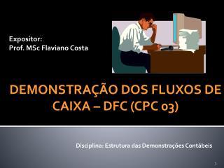 Expositor: Prof. MSc Flaviano Costa