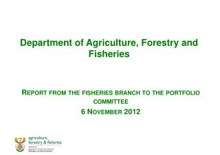 Department of Agriculture, Forestry and Fisheries