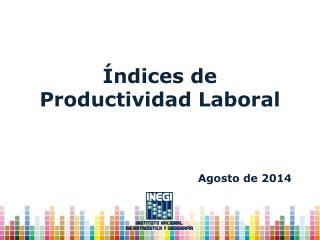 Índices de Productividad Laboral