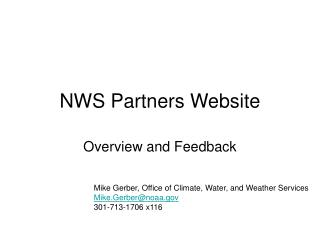 NWS Partners Website