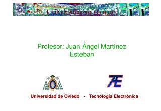 Profesor: Juan Ángel Martínez Esteban