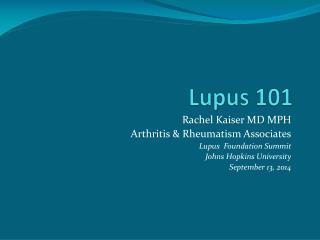 Lupus 101