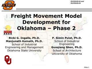 Freight Movement Model Development for Oklahoma – Phase 2