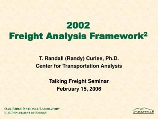 2002 Freight Analysis Framework 2