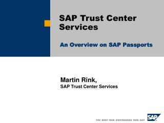 SAP Trust Center Services