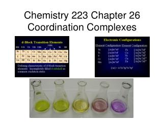 Chemistry 223 Chapter 26 Coordination Complexes