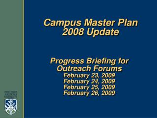 Campus Master Plan 2008 Update