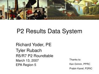 P2 Results Data System