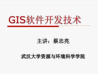 GIS 软件开发技术