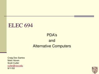 ELEC 694