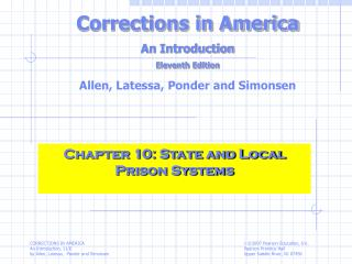 Chapter 10: State and Local Prison Systems