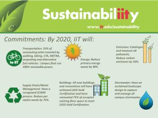 Commitments: By 2020, IIT will :