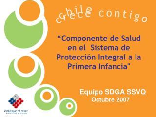 """""""Componente de Salud en el  Sistema de Protección Integral a la Primera Infancia"""