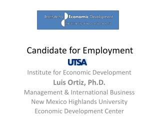 Candidate for Employment