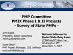 PMP Committee PMIX Phase I  II Projects  - Survey of State PMPs -