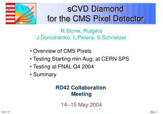 sCVD Diamond  for the CMS Pixel Detector