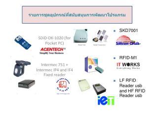 SDiD-DK-1020 (for Pocket PC) Intermec 751 + Intermec IP4 and IF4 Fixed reader