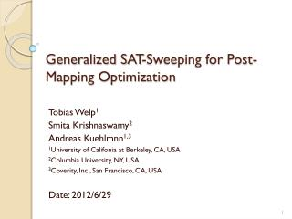 Generalized SAT-Sweeping for Post-Mapping Optimization