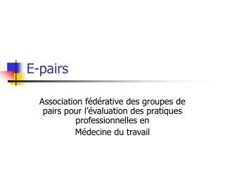 E-pairs