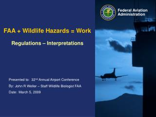 FAA  Wildlife Hazards  Work