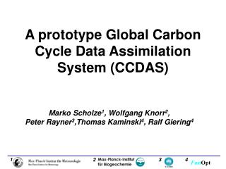 A prototype Global Carbon Cycle Data Assimilation System  (CCDAS)