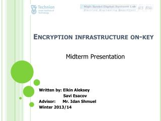 Encryption infrastructure on-key