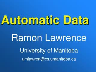 Automatic Data