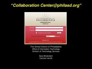"""Collaboration Center@philasd"""