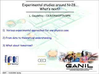 Experimental studies around N=28… What's next?
