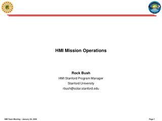 HMI Mission Operations
