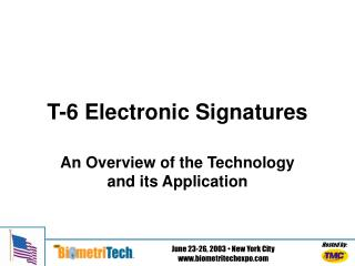 T-6 Electronic Signatures