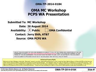 OMA-TP-2014-0184 OMA MC Workshop PCPS WA Presentation