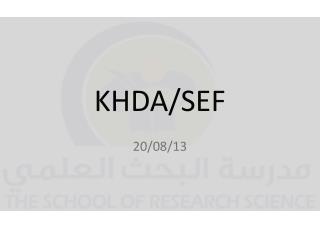 KHDA/SEF