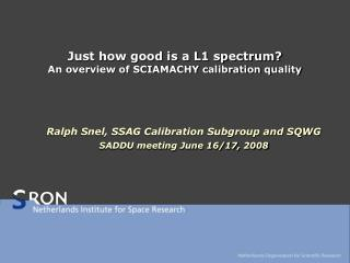 Just how good is a L1 spectrum? An overview of SCIAMACHY calibration quality